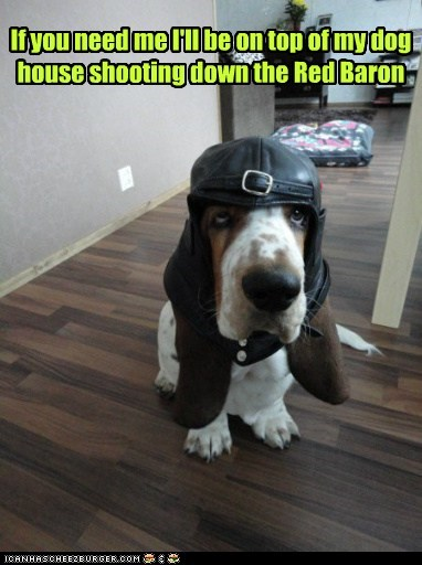 dogs fighter pilots peanuts basset hound snoopy dog house hat - 6956769792