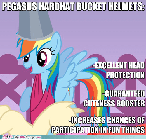 bucket helmet,new item,rainbow dash