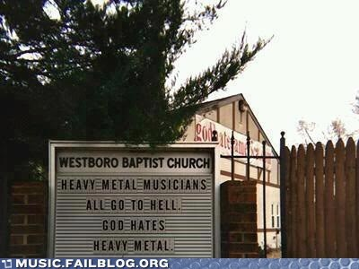 hell heavy metal Church Sign - 6957340416