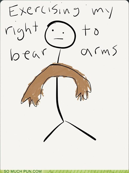 right,arms,bear,literalism,second amendment,exercising,double meaning