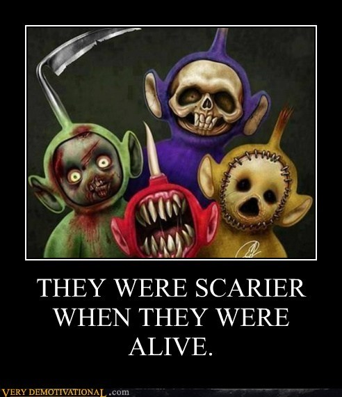scary,teletubbies,wtf,alive