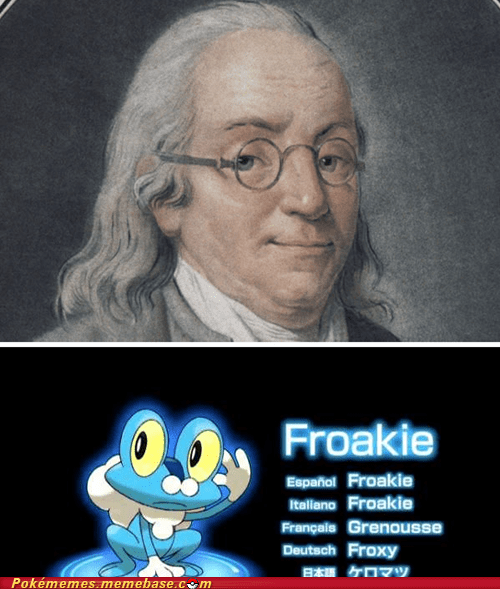 Benjamin Franklin,look alike,froakie