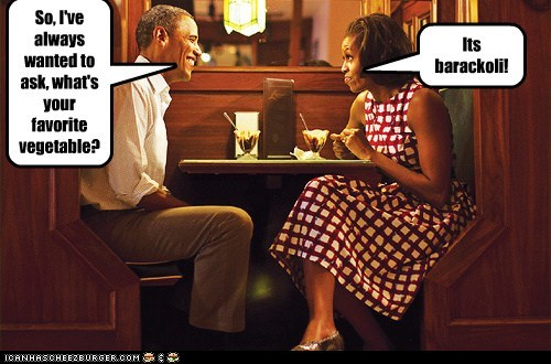 So, I've always wanted to ask, what's your favorite vegetable? Its barackoli!