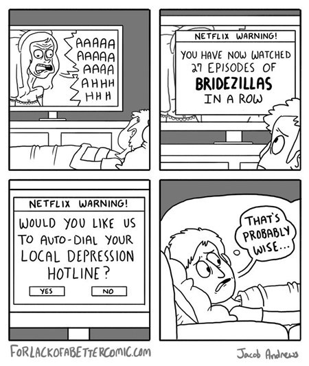 TV depression comic netflix bridezilla