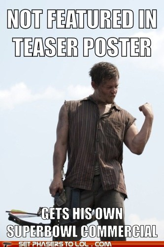teaser commercial daryl dixon poster super bowl norman reedus - 6958322176
