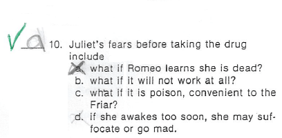romeo & juliet,test,irony