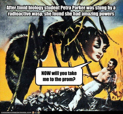 scary wasp bee prom Spider-Man - 6958716416