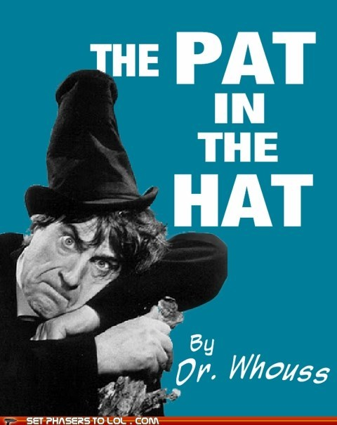 the cat in the hat patrick troughton the doctor doctor who doctor seuss