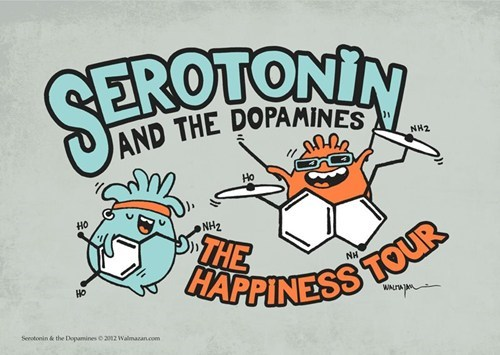 dopamine,serotonin,T.Shirt,happiness