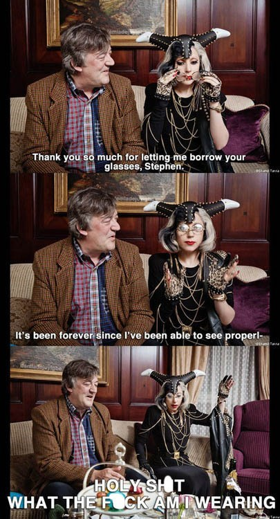 Music actor Stephen Fry lady gaga comic funny - 6958796032