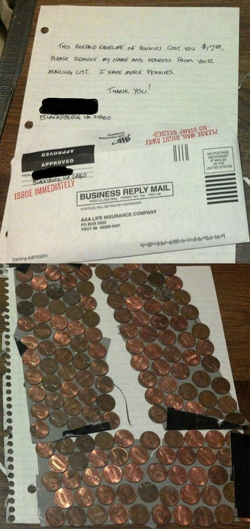 envelope pennies letter mail - 6958818048