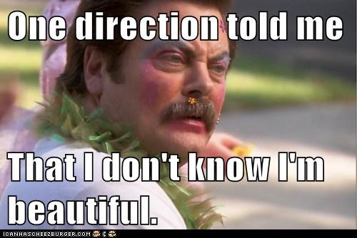 makeup one direction parks and recreation ron swanson Nick Offerman beautiful - 6958827776