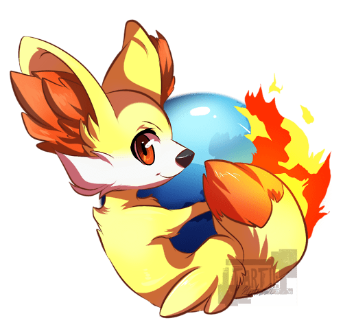 fennekin the internets firefox crossover - 6958831616