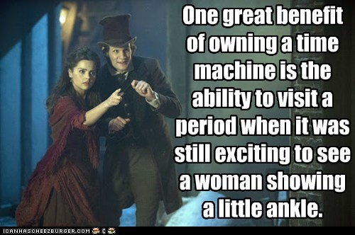 ankles clara oswin oswald benefit period jenna-louise coleman Matt Smith doctor who time machine exciting time travel