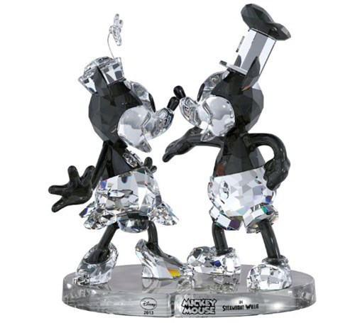 minnie mouse disney mickey mouse crystal figurines steamboat willie - 6959055360