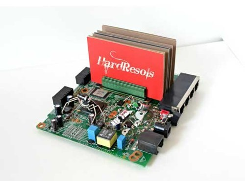 geeky computer parts holder circuit board business cards - 6959063040