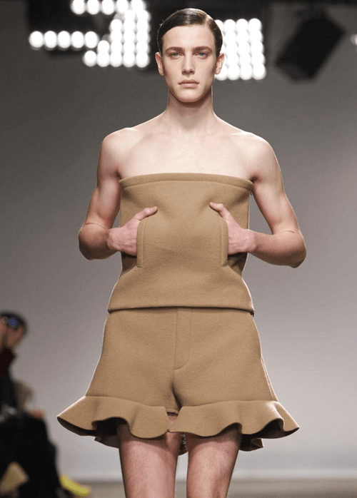 men ruffles tan tube top if style could kill style fashion - 6959091456