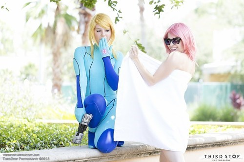 cosplay,samus,haruko,video games