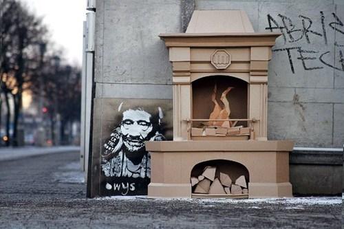 Street Art,hacked irl,cardboard