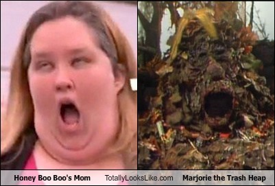 marjorie,TLL,trash heap,honey boo-boo,mom,fraggle rock
