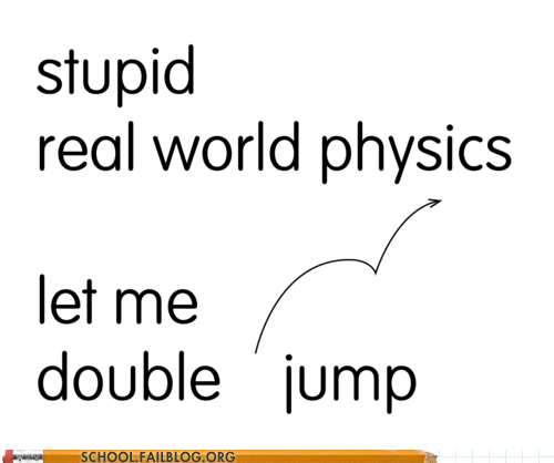 real world,physics,double jump
