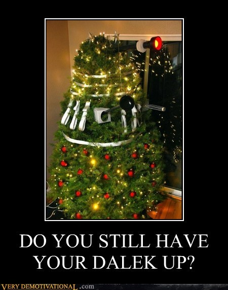 dalek,christmas tree,doctor who