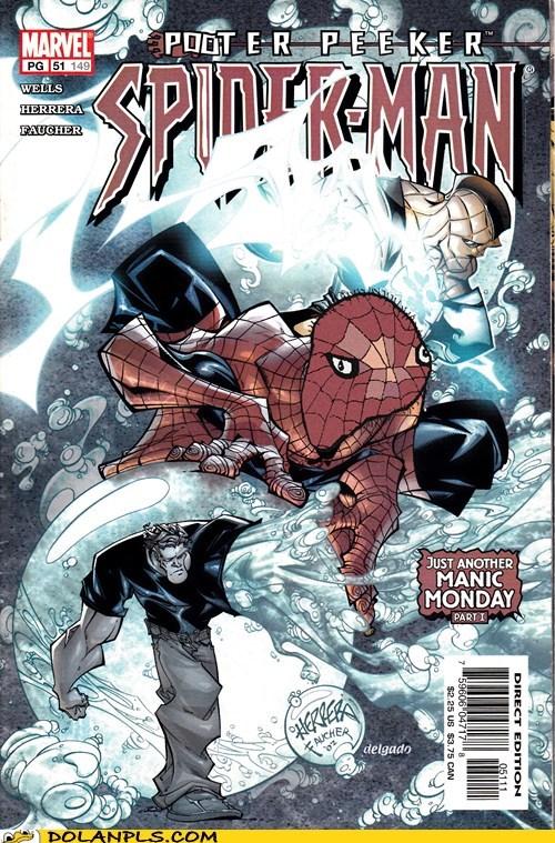 spoderman,comic books,cover art