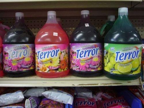terror,detergent,clean