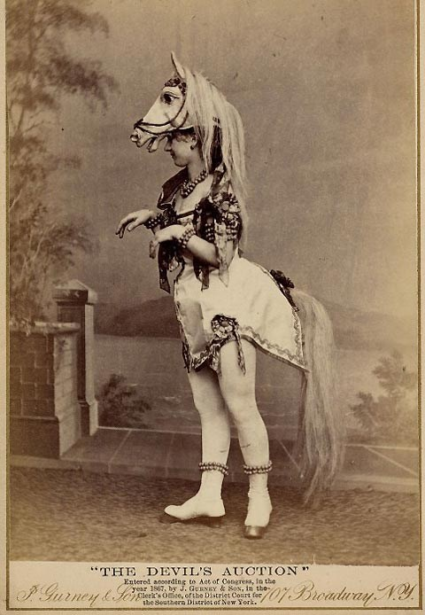 horse mask old timey costume - 6961357312