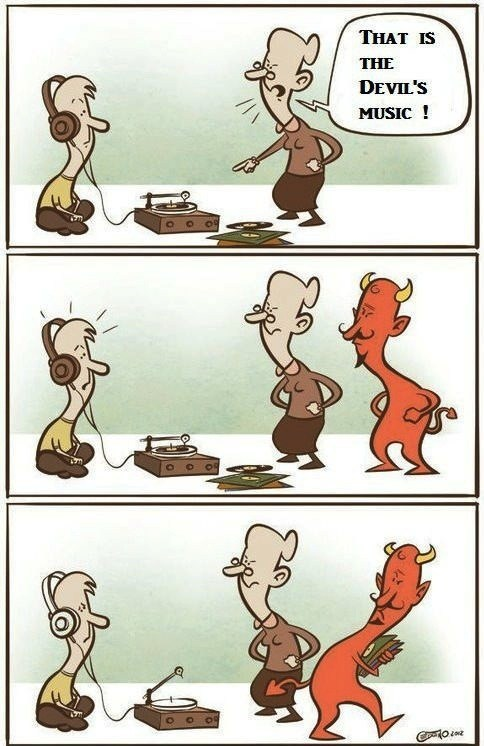 devil's music,expression,literalism,devil,possession