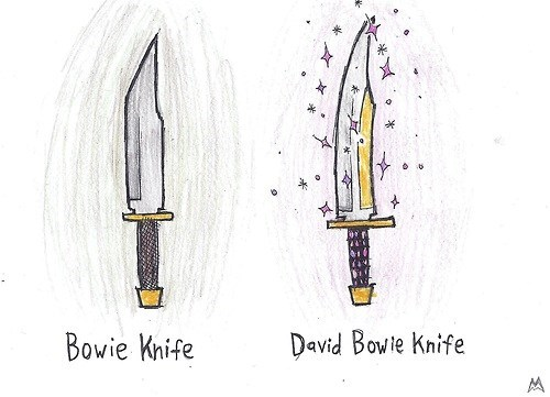 surname bowie knife literalism david bowie bowie double meaning