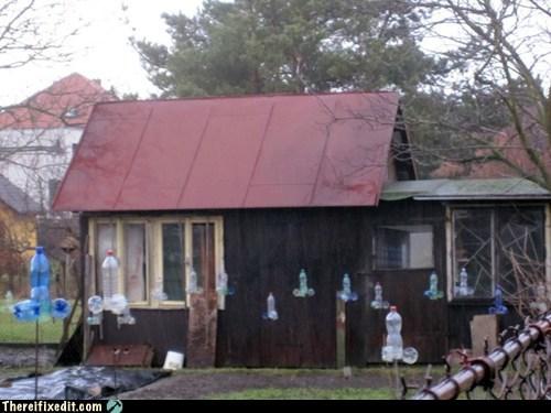 birds scarecrow czech republic barn - 6961586432