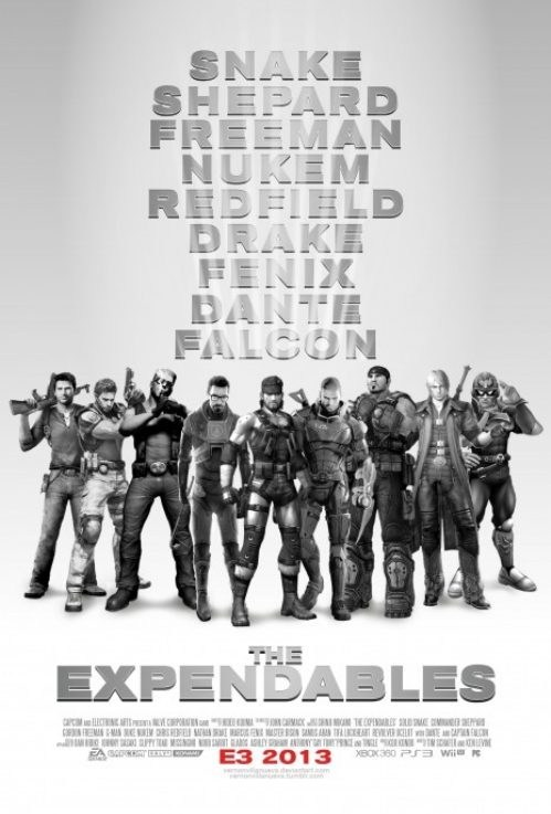 expendables,tough guys,video games