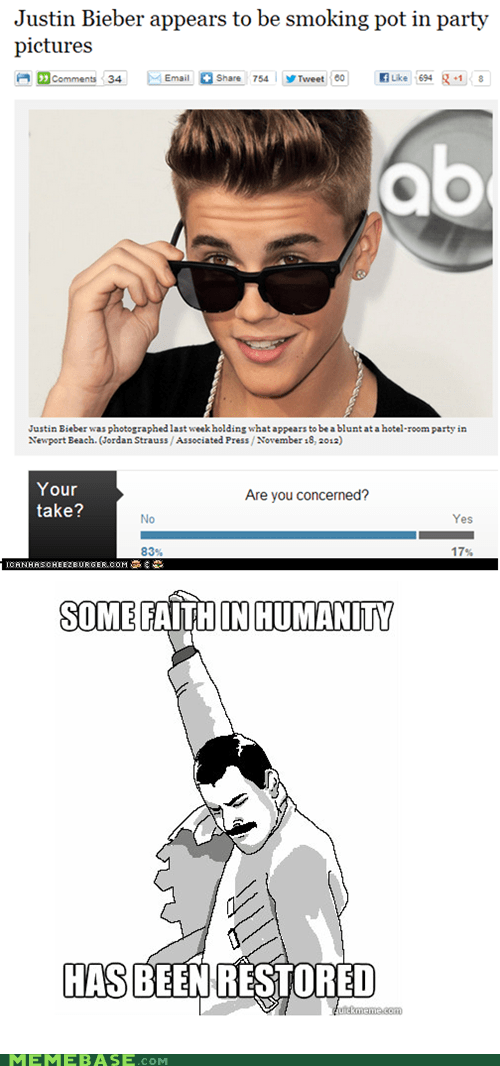 pot some faith in humanity celeb justin bieber f yeah freddie - 6961914112