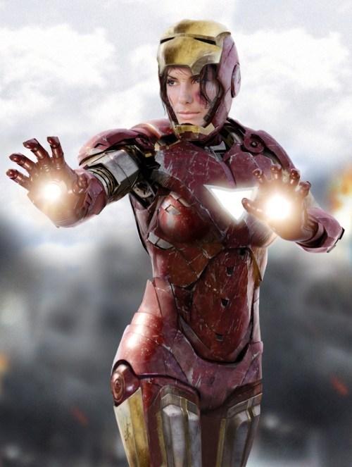gender swap Sandra Bullock Fan Art iron man rule 63 - 6961956864