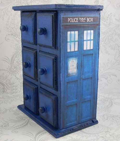 storage tardis doctor who drawers Bling jewelry box - 6961972992