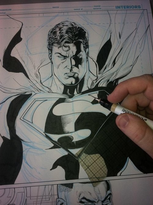 art,ink,superman