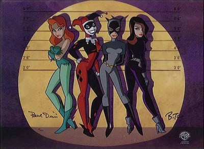 Saturday Morning Cartoons,catwoman,batman,poison ivy