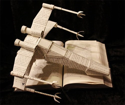 reading is sexy star wars x wing origami nerdgasm books