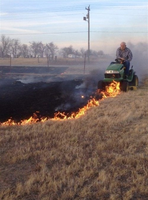 lawn mower firefighting DIY - 6962221568