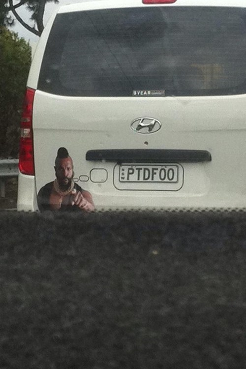cars mr t license plate g rated win - 6962226688