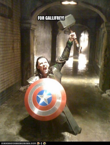 loki props gallifrey shield tom hiddleston hammer The Avengers mjolnir