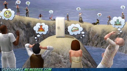 mwahahahaha stranded fridge The Sims