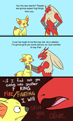fennekin,firefighting,blaziken