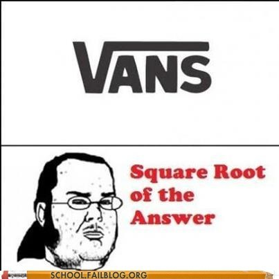 answer vans math square root - 6963770112