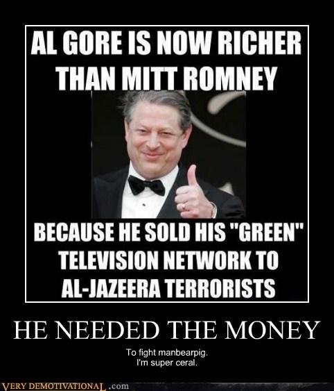 green Mitt Romney Al Gore al jazeera - 6963789568