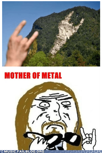 mother of metal mountain side rock fist