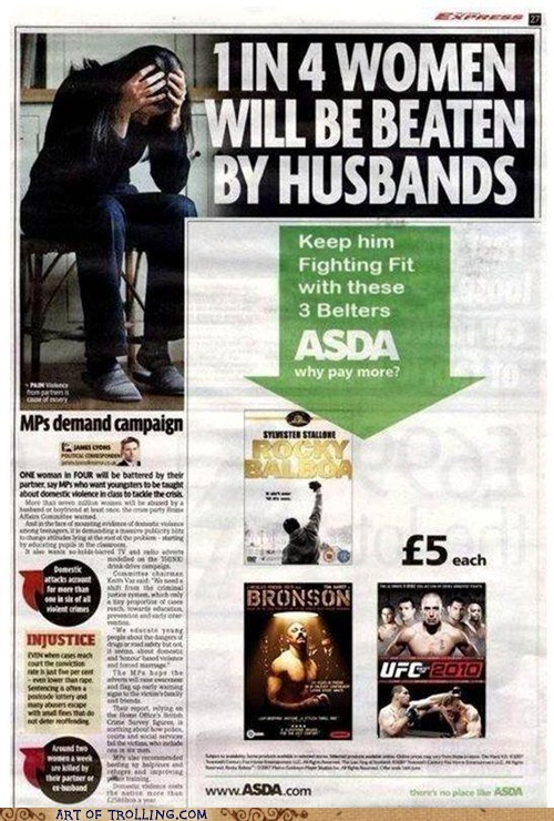 violence,inappropriate,ASDA,newspaper