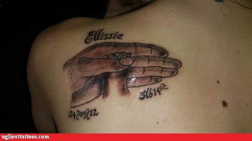 baby hands back tattoos - 6963957504