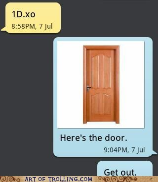 door,one direction,text,sms
